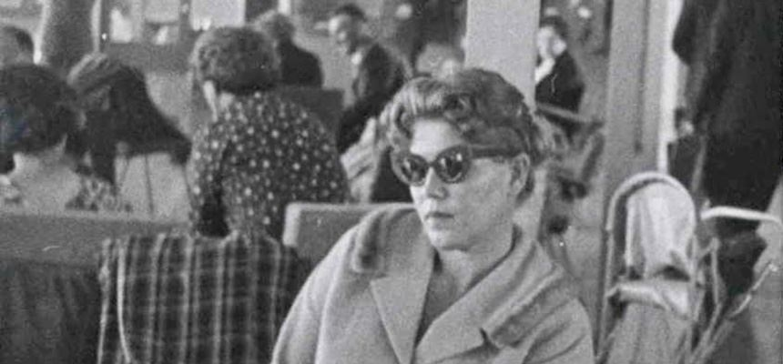 Image: Lydia Janovska at Mascot Airport, Sydney, 1960. NAA: A6122, 1755. Australian Security Intelligence Organisation, Central Office